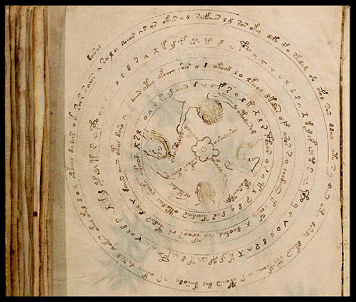 Carte astrologique dans le manuscrit de Voynich