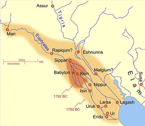 Carte de la Babylonie