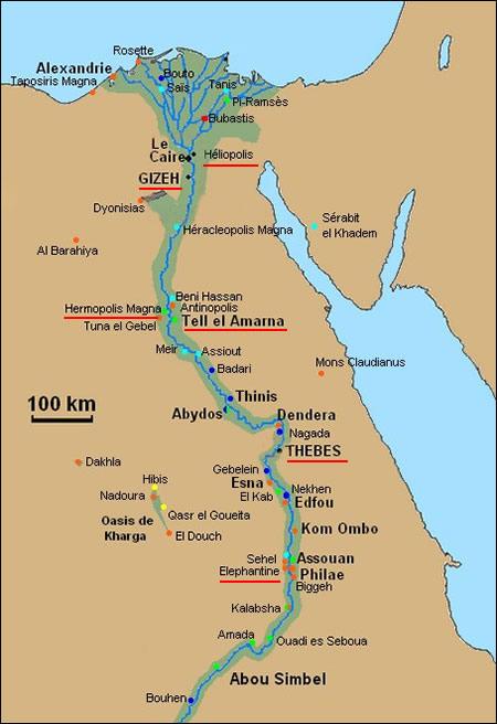 Carte Egypte Antique