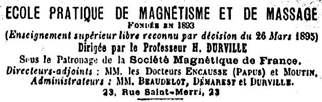 Ecole de magnétisme de Paris