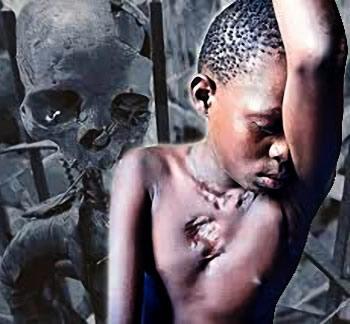 Enfant sorcier torturé