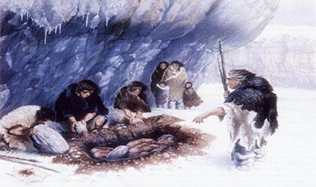 Enterrement chez les hommes préhistoriques