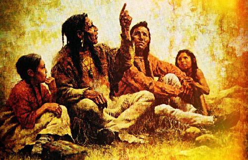 Легенды людей о звездах индейцев Америки, это драматично