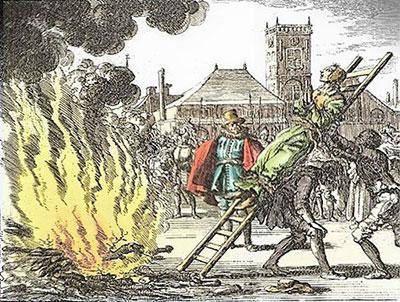 Anne Hendriks conduite au bûcher
