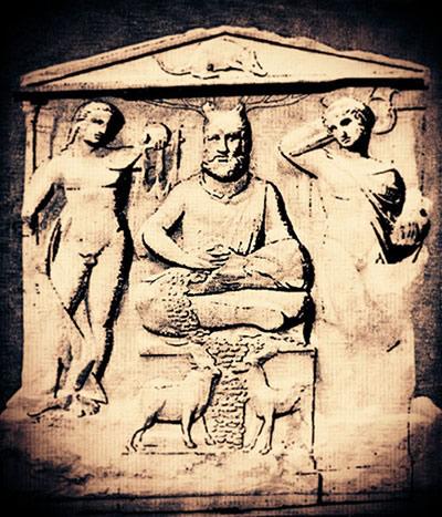 Stèle de Cernunnos à Reims