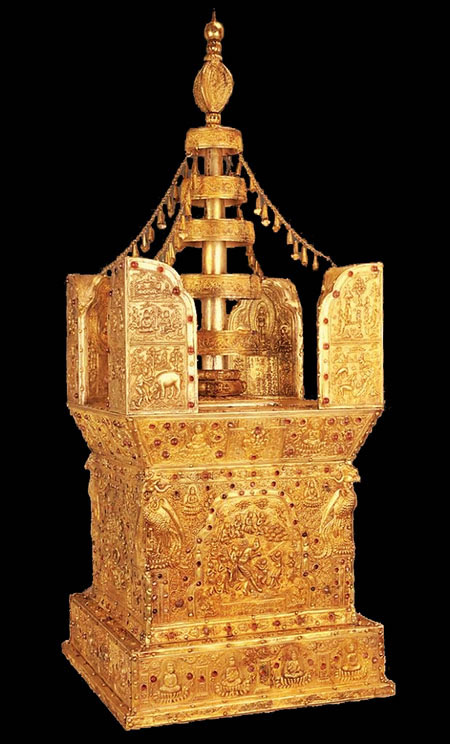 Stupa contenant les reliques de Bouddha