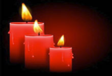 Les bougies rouges